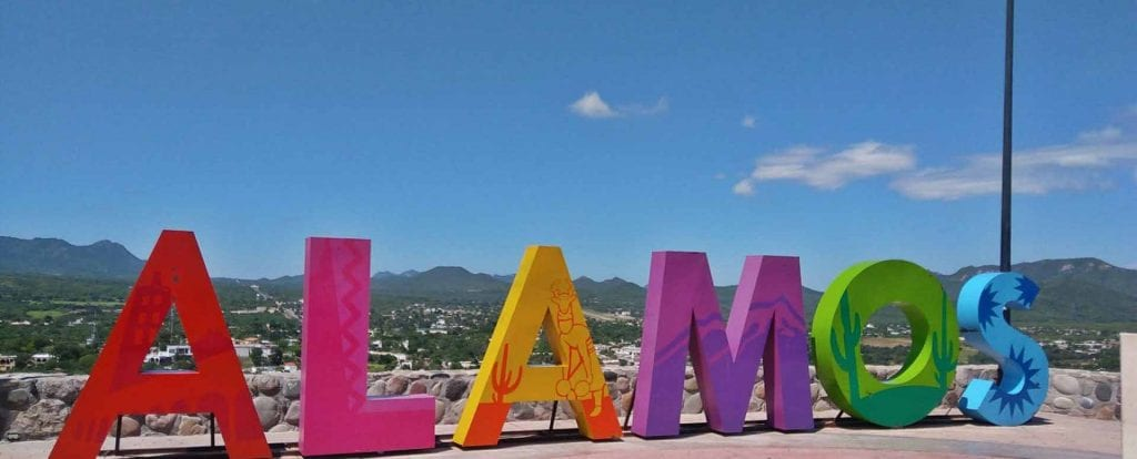 Colorful Alamos Mexico Sign