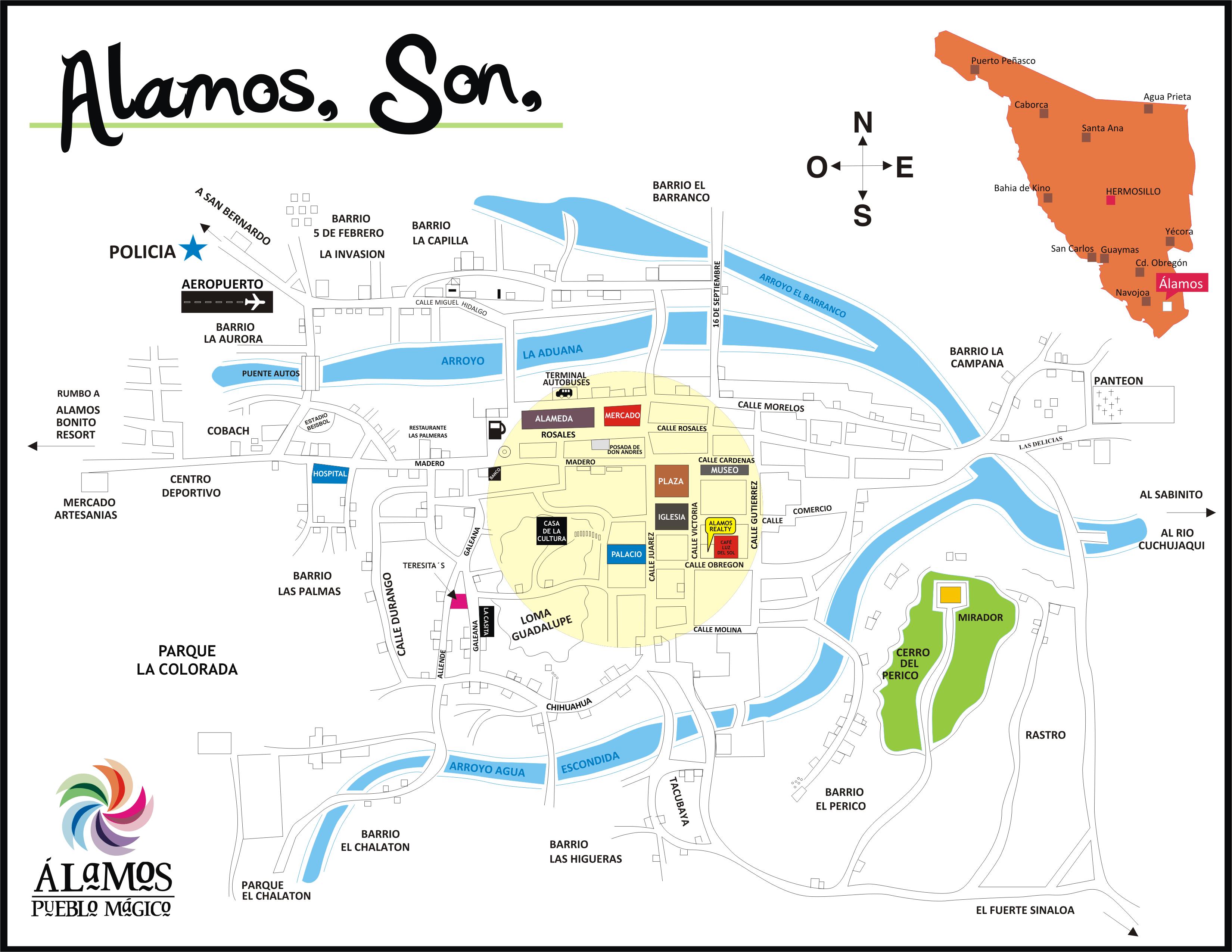 Mapa Alamos